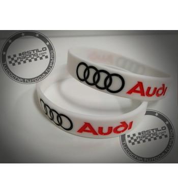 Pulsera de goma Audi
