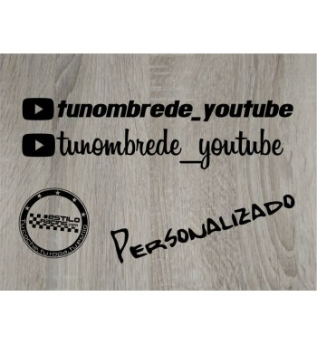 Pegatinas nombre Youtube