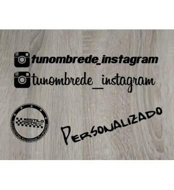 Pegatinas nombre Instagram...
