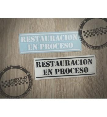 Pegatina Restauracion en...