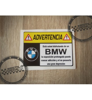 Pegatina Advertencia BMW