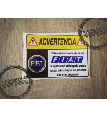 Pegatina Advertencia Fiat