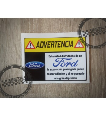 Pegatina Advertencia Ford