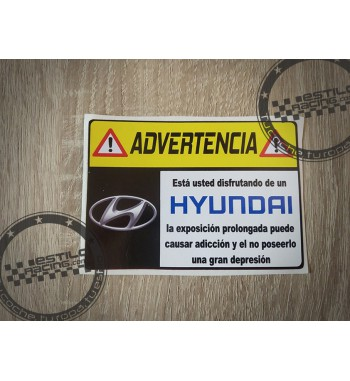 Pegatina Advertencia Hyundai