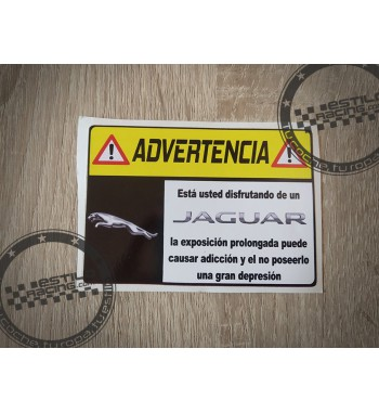Pegatina Advertencia Jaguar