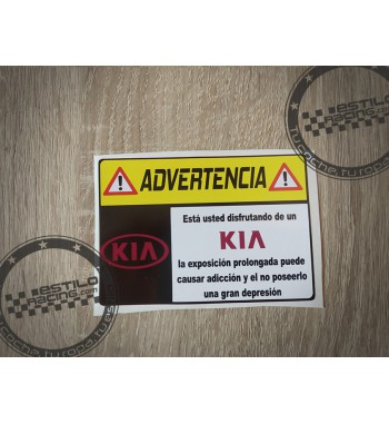 Pegatina Advertencia Kia