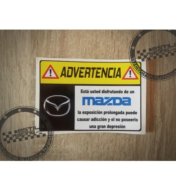 Pegatina Advertencia Mazda
