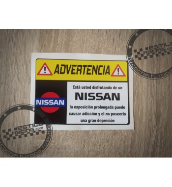 Pegatina Advertencia Nissan