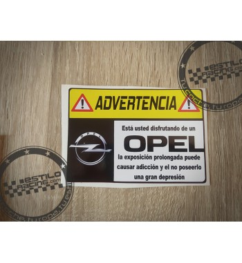 Pegatina Advertencia Opel