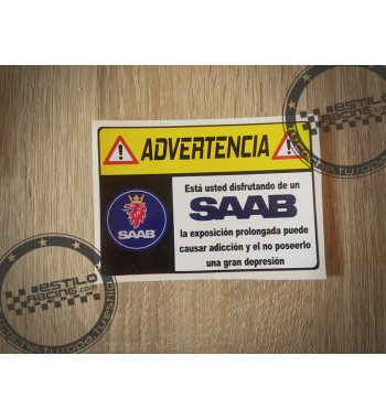 Pegatina Advertencia Saab