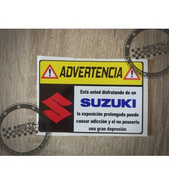 Pegatina Advertencia Suzuki