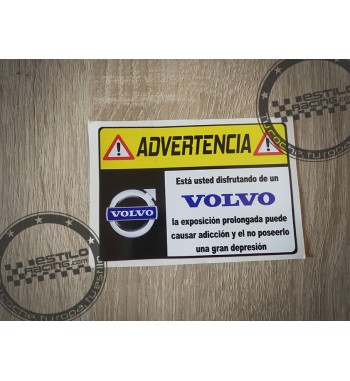 Pegatina Advertencia Volvo