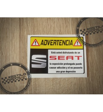 Pegatina Advertencia Seat