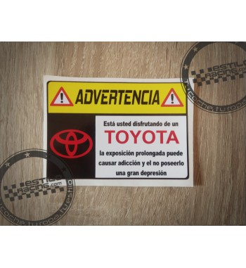 Pegatina Advertencia Toyota