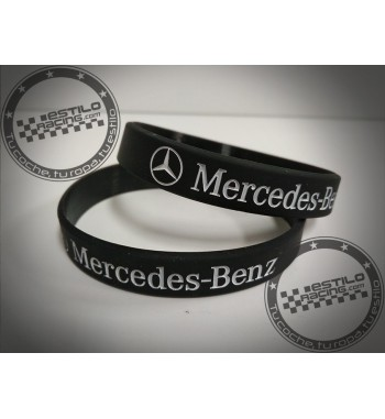 Pulsera de goma Mercedes