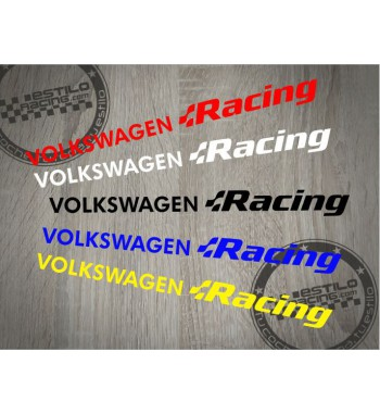 Pegatina Volkswagen Racing 2