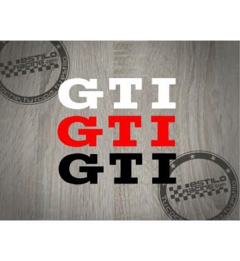 Pegatina Volkswagen GTI...