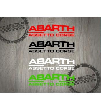 Pegatina Abarth Assetto Corse