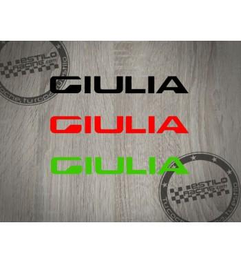 Pegatina Alfa Romeo Giulia