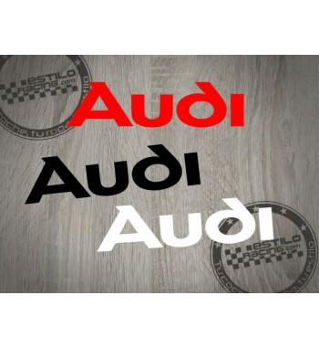 Pegatina Audi letras