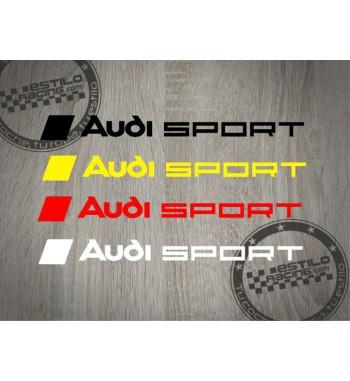 Pegatina Audi Sport bandera