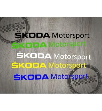 Pegatina Skoda Motorsport