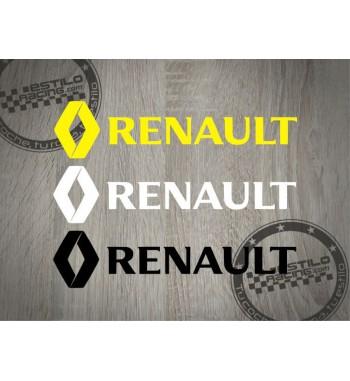 Pegatina Renault con logo