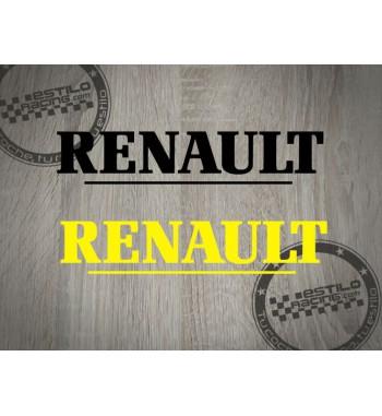 Pegatina Renault letras