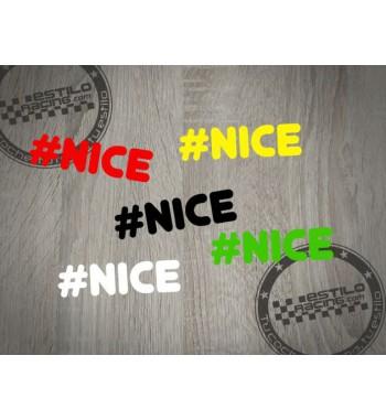 Pegatina Nice