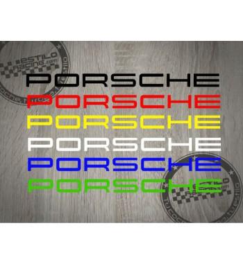 Pegatina Porsche letras