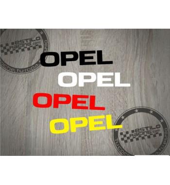 Pegatina Opel letras clásico