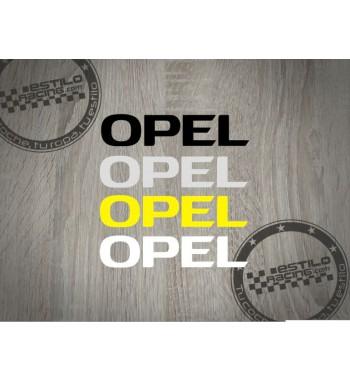 Pegatina Opel letras