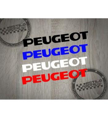 Pegatina Peugeot letras...