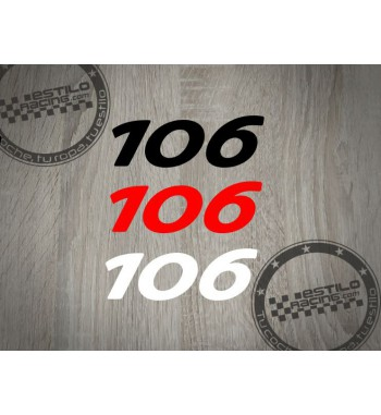Pegatina 106 Peugeot