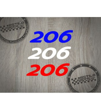 Pegatina 206 Peugeot