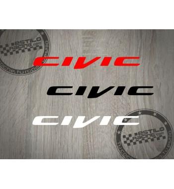 Pegatina Honda Civic 2