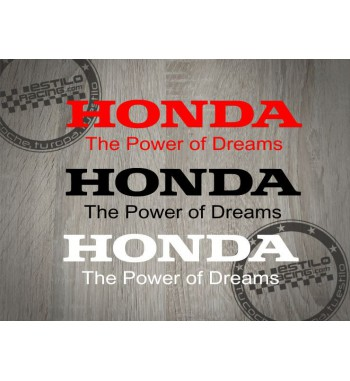 Pegatina Honda The Power of...