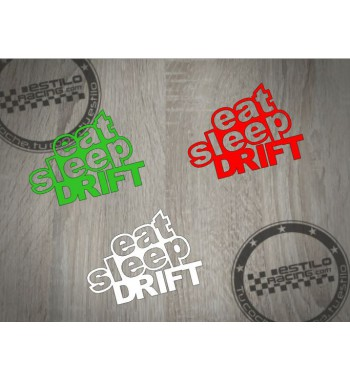 Pegatina Eat Sleep Drift