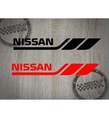 Pegatina Nissan lineas