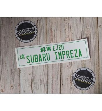 Pegatina Subaru Impreza EJ20