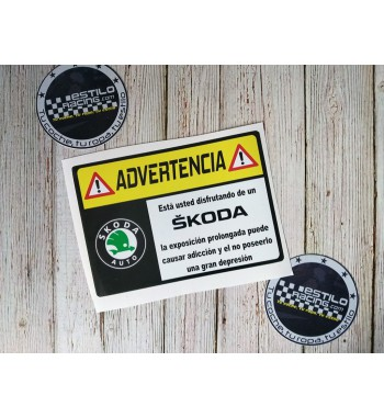 Pegatina Advertencia Skoda