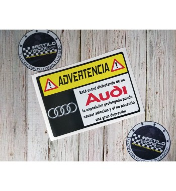 Pegatina Advertencia Audi