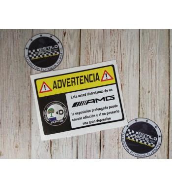 Pegatina Advertencia AMG...