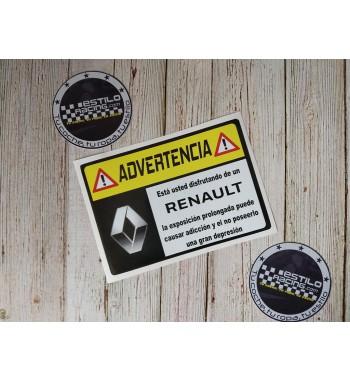 Pegatina Advertencia Renault