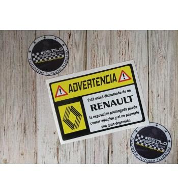 Pegatina Advertencia...