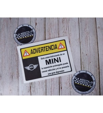 Pegatina Advertencia Mini