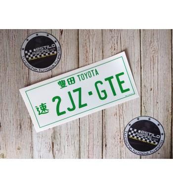 Pegatina Toyota 2JZ-GTE