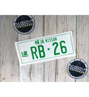 Pegatina Nissan RB26