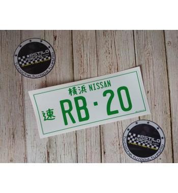 Pegatina Nissan RB20
