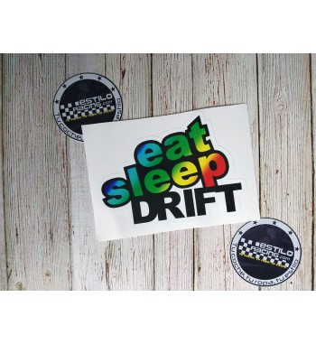 Pegatina Eat Sleep Drift...